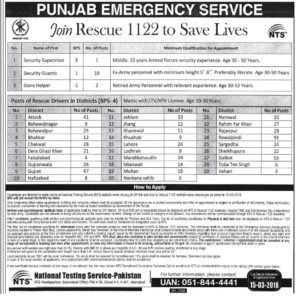 Rescue 1122 New jobs 2018
