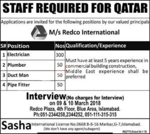 REDCO International Jobs 2018