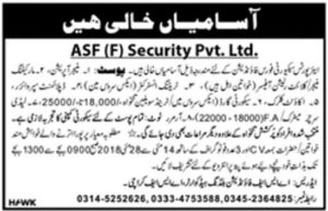 Airports Security Force Foundation Jobs 2018