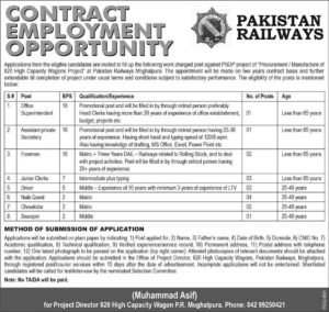 Pakistan Railway New Jobs 2018