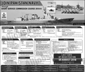 Join Pakistan Navy short service commission course jobs