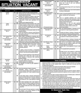 University of the Punjab Lahore Jobs