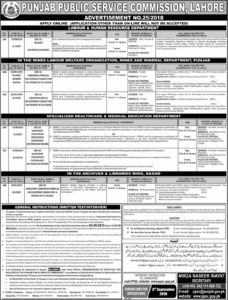 Jobs in Punjab Public services commission