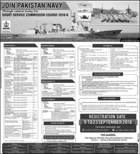 Pakistan Navy Short Service Commission Jobs