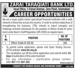 Zarai Taraqiati Bank Jobs