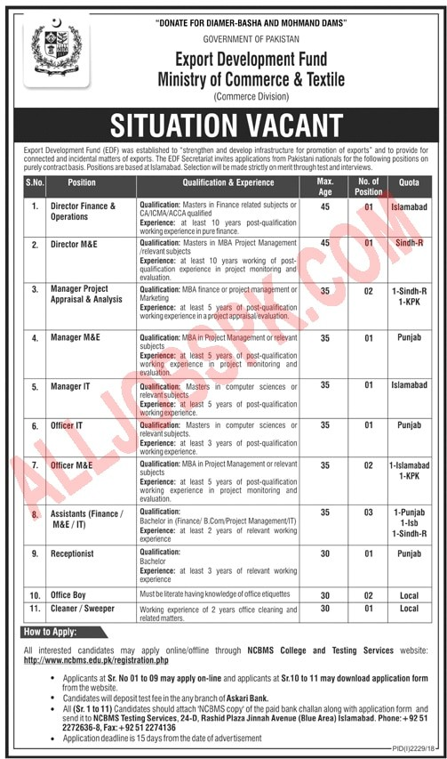 Ministry Of Commerce And Textile Jobs