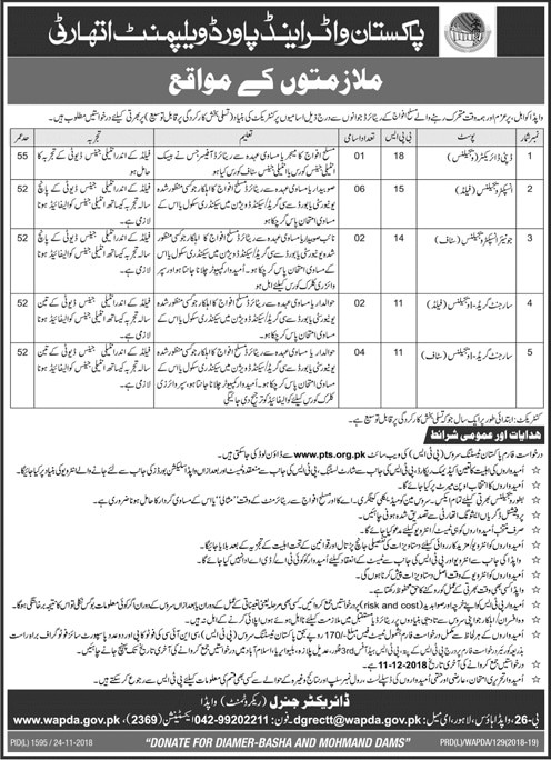 WAPDA Jobs December 2018