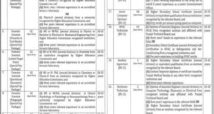 Punjab Forensic Science Agency Jobs 2021 PFSA Application Form Download