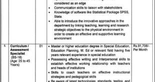 Special Education Punjab Jobs