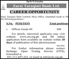 Zarai Taraqiati Bank Jobs