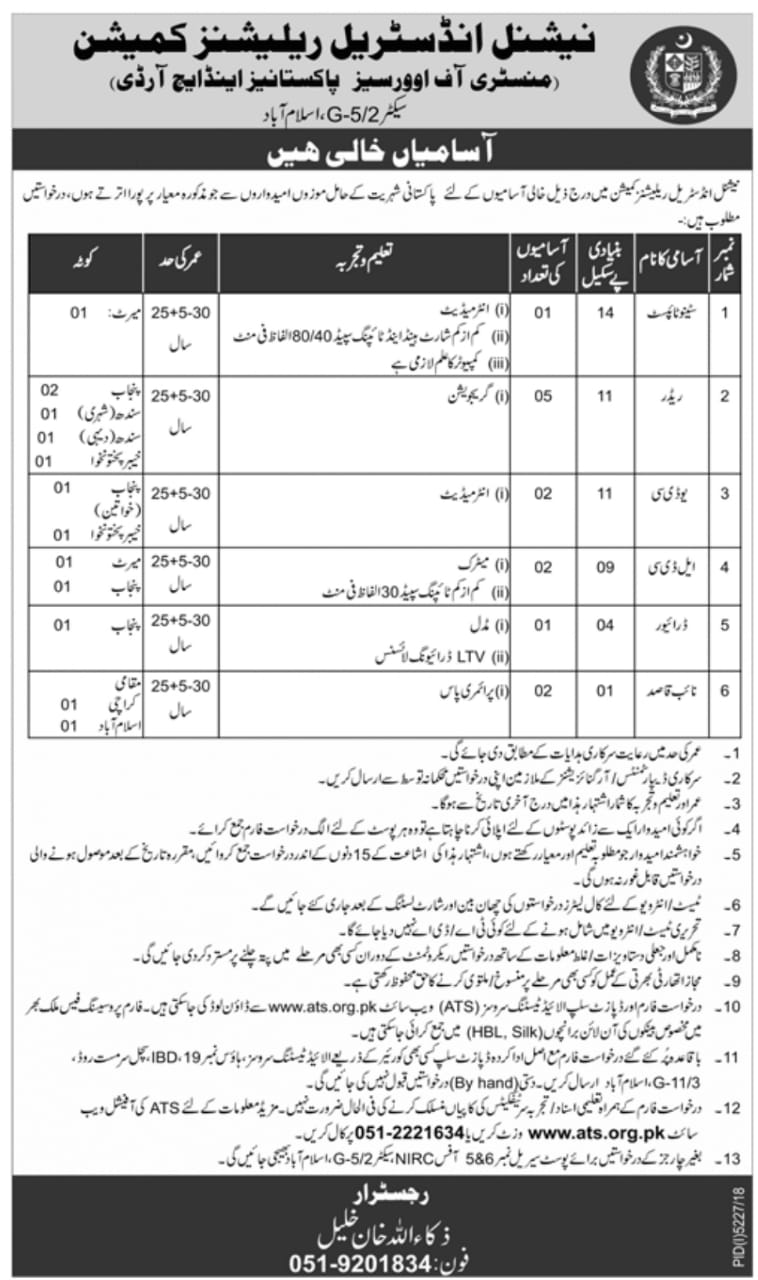 Ministry of Overseas Pakistani Jobs