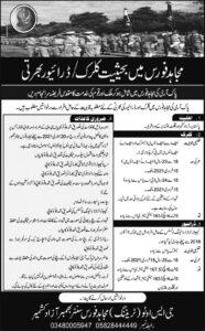 Mujahid Force Jobs 2021 For Clerk & Driver