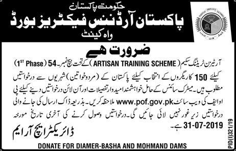 Pakistan Ordnance Factory Jobs