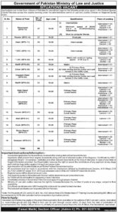 Ministry of Law and Justice Pakistan Jobs 2020 Latest Advertisement