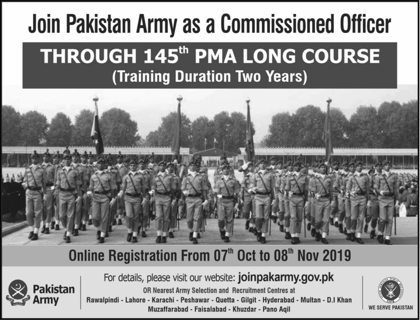 Join Pak Army as Commissioned Officer