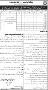 Sindh Police Jobs 2020 for Junior Clerk Latest Advertisement