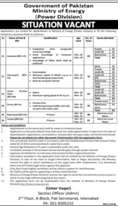 Ministry Of Energy Power Division Jobs