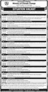 Ministry of Climate Change Jobs Govt of Pakistan 2021