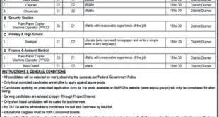 WAPDA Diamer Basha Dam Development Company Jobs 2020