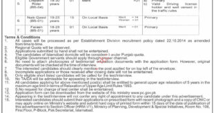 Ministry of Planning Development and Special Initiatives Jobs 2020