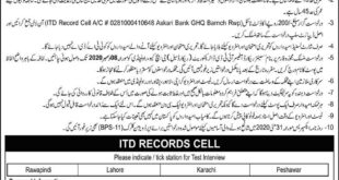 Pak Army General Headquarter GHQ Rawalpindi Jobs 2020