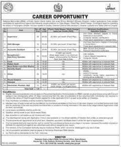 Pakistan Bait-ul-Mal PBM Jobs PM Ehsaas Program