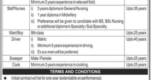 Pakistan Rangers Punjab Jobs 2021 For Teaching Hospital