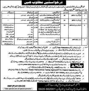 Wildlife Department Jobs 2020 Khyber Pakhtunkhwa