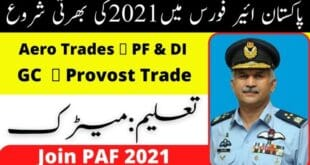 Join Pak Air Force PAF 2021