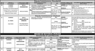 PPSC New Jobs 2020 Revenue & other Department